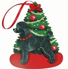 black poodle dog lover christmas ornaments u2013 for the love of