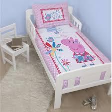 Double Bed Duvet Size Peppa Pig U0026 George Pig Duvet Quilt Covers U2013 Toddler Single