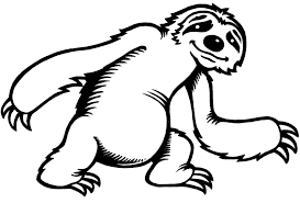 awesome sloth coloring page 40 for free coloring book with sloth