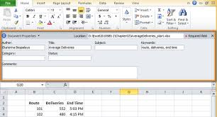 how to view change remove excel 2010 2013 document properties
