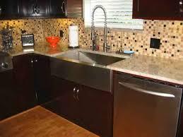 backsplash idea for dark cabinets the kitchen design