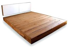 Bed Frame No Headboard No Headboard Platform Bed Contemporary Bedroom With Wood Platform