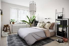 a scandinavian style bedroom