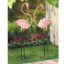 lawn decorations and garden accessories pink flamingos
