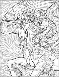 unicorn doodle coloring behance colouring