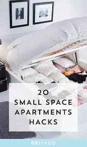 20 small space hacks to make your studio apt seem huge brit co
