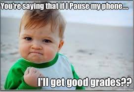 Baby On Phone Meme - an intro class launches an impromptu pause caign learns