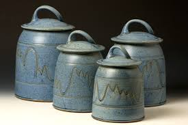 vintage rare japan 8pc blue willow tin canister set blue stamp