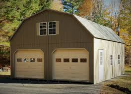2 car garages thee amish structures 24x24 2 story gambrel garage upgraded garage doors w windows long lake ny