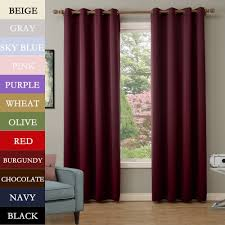 cofty chocolate inch set of 2 panels solid thermal insulated blackout curtain panel d antique bronze grommet