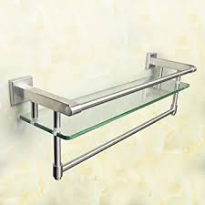 Bathroom Glass Shelves With Towel Bar Alise Sus 304 Stainless Steel Bathroom Shelf With