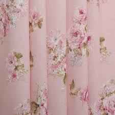 Retro Floral Curtains Vintage Chintz Shabby Roses Print Retro 100 Cotton Curtain