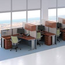 Office Desks With Storage by Bush Office In An Hour Melamine U Shaped Double Workstation