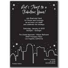 New Years Eve Black And White Decorations by Holiday In The City Invitations For New Year U0027s Eve Party Or Any