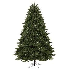 ge 7 5 ft pre lit led just cut frasier fir artificial