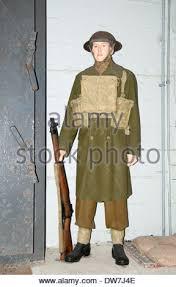 British Soldier Halloween Costume War British Soldier Machine Gun Stock Photo Royalty