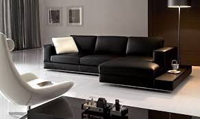 Pictures Of Living Rooms With Black Leather Furniture Wonderful Contemporary Black Leather Sofa Living Room Design Black