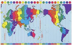 Africa Time Zone Map by World Time Zones