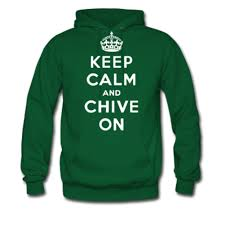 amazon com keep calm and chive on hoodie clothing