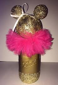Centerpieces For Minnie Mouse Party by Gold Or Black Glittery Minnie Mouse Centerpiece Minnie Mouse