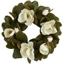 faux magnolia 24 wreath pier 1 imports