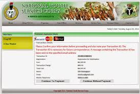 procedure step on how to register for the nysc online application