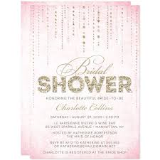 bridal shower invitation bridal shower invitations pink gold gems the