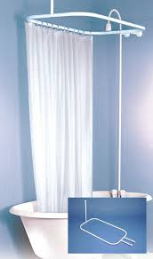 Cowboy Curtain Rods by Shower Curtain Rod For Clawfoot Tub With Blue And White Curtain