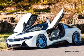 bmw i8 stanced bmw i8 sitting on rennen forged wheels rennen international