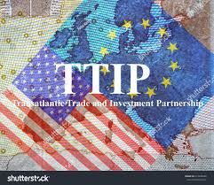 A Map Of Europe Ttip American European Flag Front Map Stock Photo 273428486