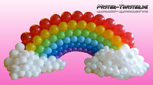 Balloon Decoration Ideas For Birthday Party At Home Balloon Rainbow Decoration Birthday Ballon Regenbogen