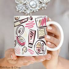 Christmas Gifts For Her Makeup Mug Makeup Beauty Mug Trendy Mug Mugs For Her Fashion