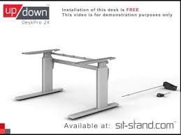 standing desk up down pro series deskpro 2x demonstration