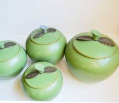 green kitchen canisters apple kitchen canisters 28 images vintage apple canisters 1960