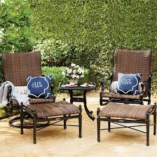 set of two carlisle woven swivel rocker lounge chairs frontgate