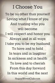 popular wedding sayings wedding vows exles for and for him