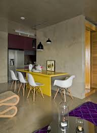 Yellow Table L Interior Stunning Open Living Dining Decor With Grey