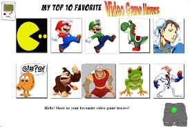Top 10 Video Game Memes - top ten videogame heroes meme by tatsunokoisthebest on deviantart