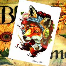 high quality wolf tattoo art promotion shop for high quality