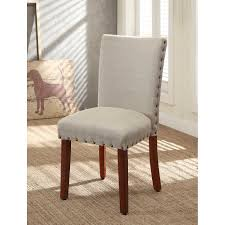 dining chairs with nailhead trim coaster amherst casual parson