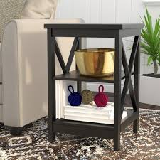 end table black 24 ore international beachcrest home stoneford end table reviews wayfair