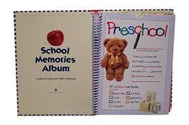 school memories album deluxe school memories keepsake photo album scrapbook pre k 12