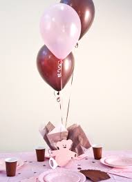 teddy centerpieces for baby shower pink polka dot plates and napkins polka dot baby shower theme