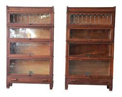 oak bookcases with glass doors glass door bookcase etsy