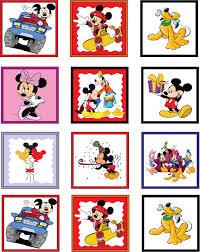 free mickey mouse gang printable stickers parker u0027s