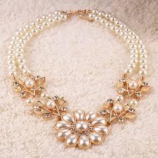 ladies necklace images Vintage elegant charm necklace women ladies pearl necklace chain jpg