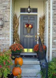 Fall Decorations For Outside The Home 14 Best Decorating With Cornstalks Images On Pinterest Fall