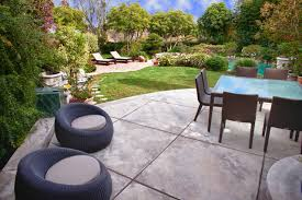 Cost Of Concrete Patio by Stamped Concrete Patio Cost Patio Contemporary With Backyard