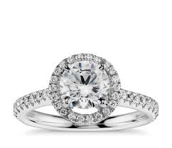 halo engagement ring settings only design your own engagement ring choose a setting blue nile