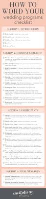 simple wedding ceremony program a simple month by month guide to planning your wedding day